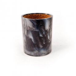 Crisloid gray marbled dice cup with cork