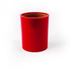 Crisloid red plastic dice cup with cork