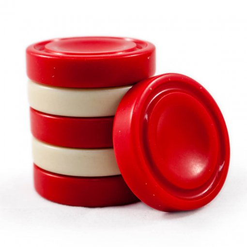 Crisloid solid grooved red bone checkers