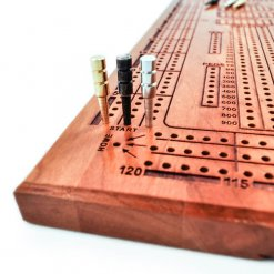 Wooden Engraved Cribbage gold black silver
