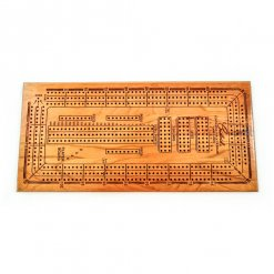 engraved wooden cribbage player board