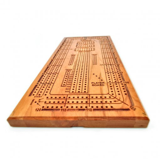 Crisloid Cribbage Engraved wooden player board