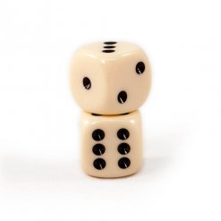 Solid Ivory Dice Pair