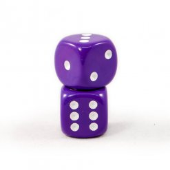 Solid purple dice
