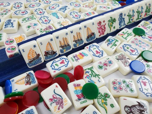 Assorted Mahjong Pieces